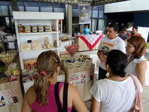 Estande da Amazon Doces, no evento do SEBRAE Amazonas